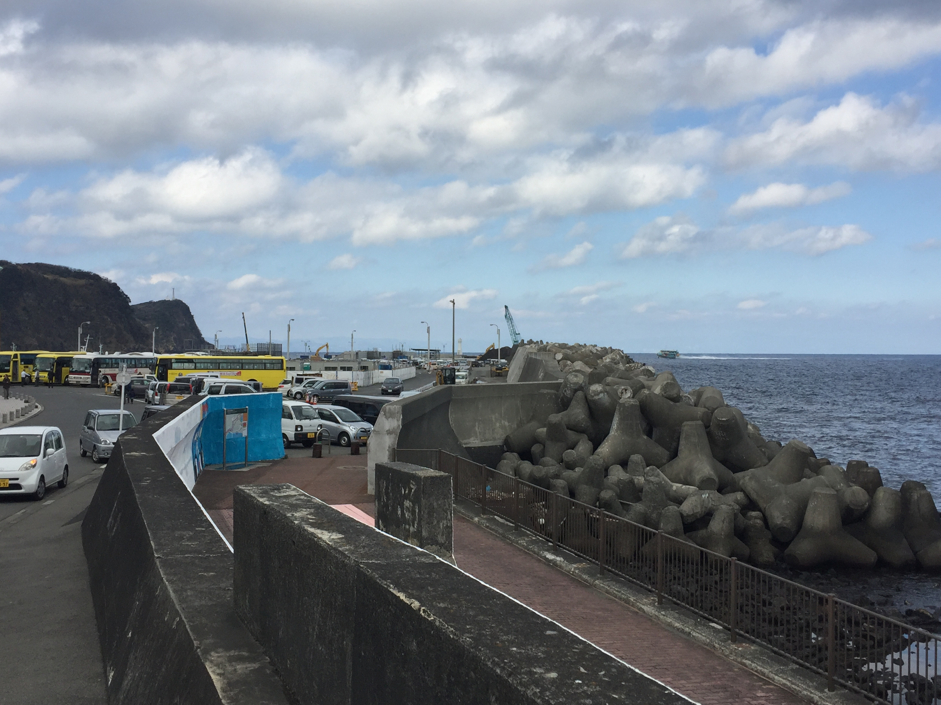 伊豆大島に初上陸しました